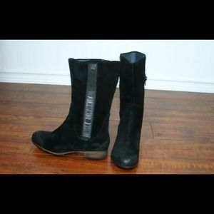 New UGG Womens Annisa Black Leather/Suede Boots